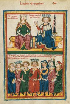 Codex Manesse, fol. 219v, 1305-1340, Zürich.