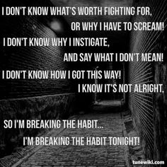 Breaking The Habit by Linkin Park #lyrics