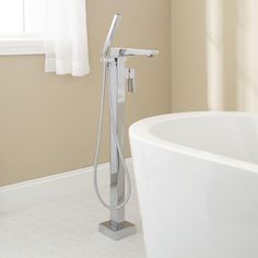Grotto Freestanding Thermostatic Waterfall Tub Faucet Projects That Pam Lik