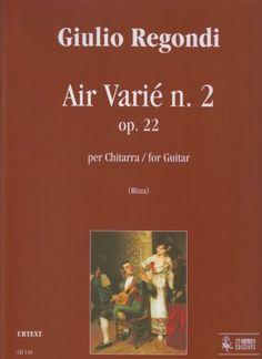 Regondi, Giulio. Air Varié n. , op. 22 : for guitar.
