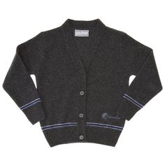 Hogwarts Ravenclaw Girls Cardigan Charcoal/Blue 7-8... ($64) ❤ liked on Polyvore featuring sweaters, cardigans, harry potter and hogwarts