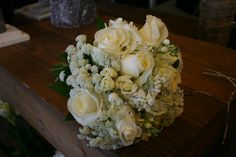 all white mixed textural bouquet with rhinestone elements
