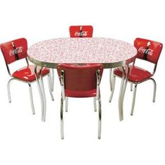 Retro Coke Cola Kitchen Table & Chairs