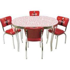 Retro Coke Cola Kitchen Table & Chairs