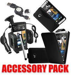 7 x #accessory bundle kit for htc one (m7) + case #cover car holder #charger,  View more on the LINK: 	http://www.zeppy.io/product/gb/2/140931529599/