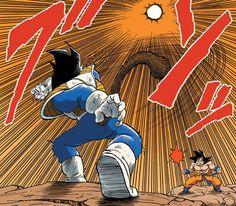 Vegeta vs Goku, Creating His Own Moon Dragon Ball Z, Dbz Images, Goku And Vegeta, Son Goku, Dbz Manga, Anime Screenshots, Cartoon Shows, Cool Cartoons, Anime Comics