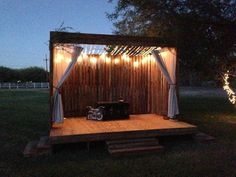 We built this stage for a friend's outdoor wedding | DIY decor ...