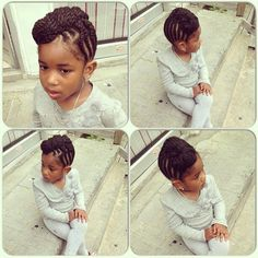 Protective styles for little girls. Cute but a little grown