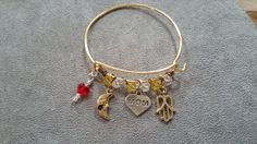 Mother's Day Alex and Ani inspired bracelet by DandEJewelryDesigns