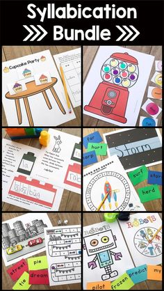 Syllable Types and Syllable Division Multisensory Activities - Whether you're just introducing or reviewing, these printable worksheets can be used one on one, in small groups, or whole group learning. Perfect for lower or upper elementary. There are mini posters for your wall or bulletin board and a wide variety of fun games your kids will love! Perfect for 1st, 2nd, 3rd, 4th, 5th grade, or home school students. {first, second, third, fourth, fifth graders} Phonics Activities, Division Activities, Reading Activities, Word Study, Word Work, Teaching Techniques, Gillingham, Teaching Reading, Learning