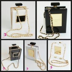 Chanel bottle clutches now available in different colors n size!