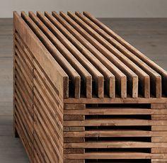 Reclaimed Timber Slat Sideboard