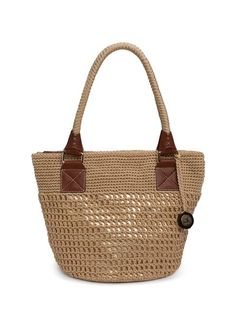 Our favorite round tote is effortless style featuring our signature Tightweave crochet and a double handle.