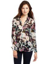 $198.00, This top features allover photographic crysanthemum print.