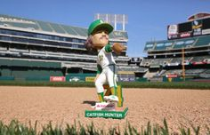 Paint enough corners and you end up on a lot of shelves. Get the Catfish Hunter Bobblehead on Saturday, May 31, 2014.