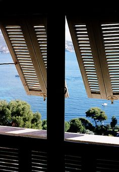 Shutters on the Côte d'Azur, France
