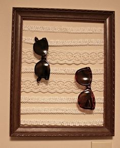 Sunglass holder... maybe then i wouldn't lose them