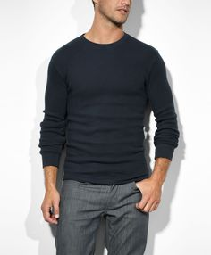 Levi's Thermal Crew - Union Blue - Knits