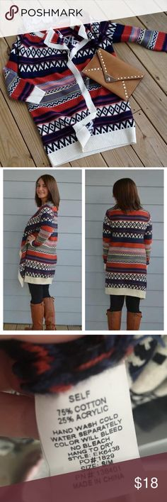 Open colorful long cardigan Warm & cozy colorful cardigan Sweaters Cardigans