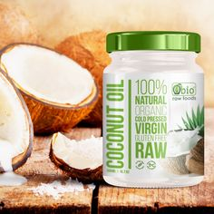 Create a modern and clean label for organic coconut oil 500ml jar by mastersky
