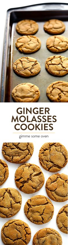 My all-time favorite recipe for soft and chewy Ginger Molasses Cookies. Everyone always LOVES these! | gimmesomeoven.com