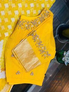 New Saree Blouse Designs, Simple Blouse Designs, Stylish Blouse Design, Hand Work Blouse Design, Maggam Work Designs, Designer Blouse Patterns, Couture, Maggam Works, Churidar
