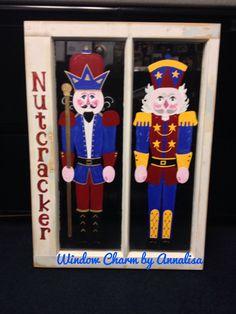 Christmas window.    FB page: Window Charm by Annalisa