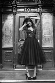 Such a lovely black lace cocktail dress from Suzanne Harward