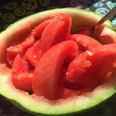 I love it when you save the center of the watermelon to eat last.. Ahh it's like desert☺️