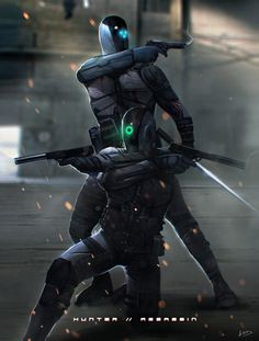 ArtStation - Cyborg Ninjas, Dom Lay