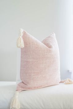 Blush Pillow Cover Light Pink Pillow Covers, Pink Texture Pillow Cover, Pink Tassel Pillow, Blush Pink Pillow Cover with Tassels : Blush Pillow Cover with Cream Tassels Blush Pillow Cover Pink Pillow Covers, Decorative Pillow Covers, Blush Pillows, Blush Throw Pillow, Shabby Chic Throw Pillows, Pink Texture, Pillow Texture, Boho, My New Room