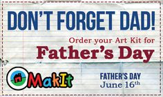 Don't forget Father's Day! Order Dad an Art Kit for his favorite cup of coffee!