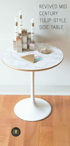 Reviving a mid century tulip style side table | {Home-ology} modern vintage