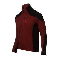 Smartwool Mens PhD Hyfi Half Zip Jacket Size Medium in Mahogany | eBay