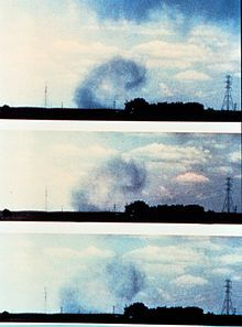 A photograph of the surface curl soon after a microburst impacted the surface Severe Weather, Weather Conditions, Wind Damage, Thunderstorms, Tornadoes, Library Images, Strong Wind, How To Level Ground, Life Cycles