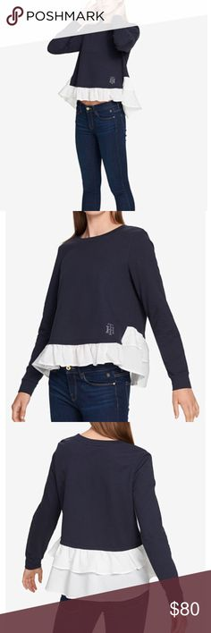 Layered Ruffle-Hem Top Tommy Hilfiger, Layered Ruffle-Hem Top Tommy Hilfiger Tops