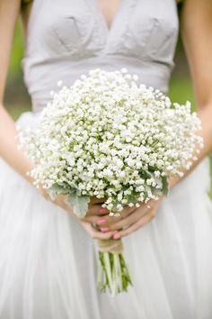 Baby's Breath Bouquet   Calli B Photography   See the wedding on #SMP Weddings   http://www.stylemepretty.com/australia-weddings/2013/12/24/maleny-manor-wedding/