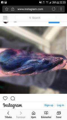 My space whale tattoo - Maksims Zotovs @laky_tattoos