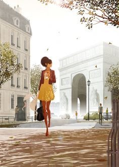 Arc de Triomphe and coffee