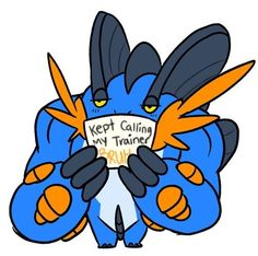 This Mega Swampert who's spending too much time at the Pokémon Gym. | 21 Pokémon Being Publicly Shamed By Their Trainers