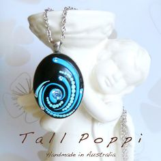VIRVEL - Hand made polymer clay pendant