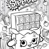 Desenho de Shopkins chocolate para colorir