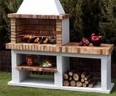 Outdoor bbq pit decoration brick grill online designs home decor ideas barbecue design how to build plans outdoor backyard bbq pit designs Design Grill, Barbecue Design, Built In Braai, Built In Grill, Parrilla Exterior, Brick Grill, Brick Built Bbq, Pit Bbq, Outdoor Oven