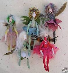 Pattern for a fairy/angel doll about tall. Instructions and suggestions for making the fairy/angel and. Gather your beads and baubles, feathers and silk flowers. Fairy Crafts, Doll Crafts, Diy Doll, Fabric Doll Pattern, Kobold, Felt Fairy, Flower Fairies, Doll Clothes Patterns, Doll Patterns Free