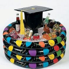 Love this.... can fill with Sodas and water for high school graduation. Or adult beverages for college grads.