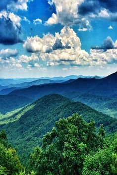 Blue Ridge Parkway in Asheville, North Carolina.