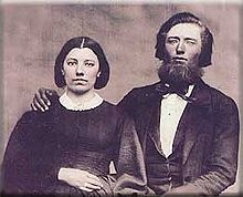 Caroline Ingalls with her husband Charles.  Father and Mother of Laura
