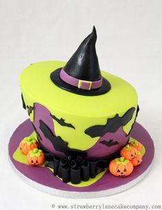 Topsy Turvy Halloween Cake  Cake by Strawberry Lane Cake Company