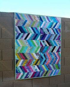 Nurture Herringbone Quilt - January 2013 by Melissalovescolor, via Flickr