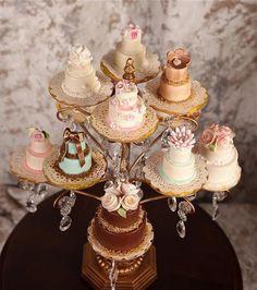 Mini wedding cakes Cute!